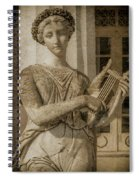 Achilleion, Corfu, Greece - The Muse Terpsichore Spiral Notebook