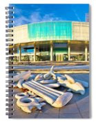 Museum Of Contemporary Art In Zagreb Spiral Notebook