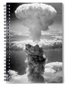 Mushroom Cloud Over Nagasaki  Spiral Notebook