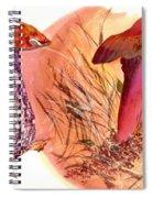 Mushroom Family Spiral Notebook