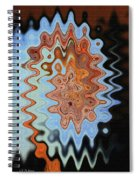 Mushroom In The Woods Abstract Spiral Notebook