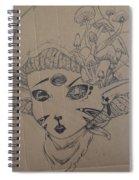 Mushroom Nymph Original  Spiral Notebook