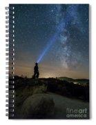 Mushroom Rocks Phenomenon Under The Night Sky Spiral Notebook