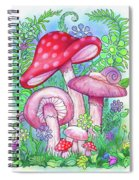 Mushroom Wonderland Spiral Notebook
