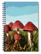 Mushrooms In Autumn Spiral Notebook