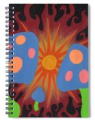 Mushrooms And Fire Spiral Notebook