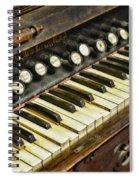 Music - Pump Organ - Antique Spiral Notebook