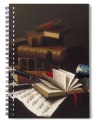 Music And Literature By William Michael Harnett Spiral Notebook