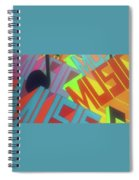 Music For The Eyes Spiral Notebook