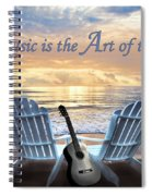 Music Is The Art Of The Soul Spiral Notebook