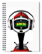 Music Roboto Spiral Notebook