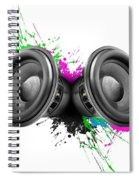 Music Speakers Colorful Design Spiral Notebook
