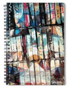 Musical Cassette Tapes Collage Spiral Notebook