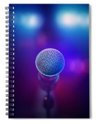 Musical Microphone On Stage Spiral Notebook