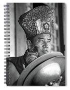 Musical Monk Bw Spiral Notebook