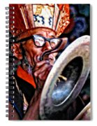 Musical Monk Watercolor Spiral Notebook
