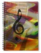 Musical Waves Spiral Notebook