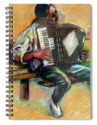 Musician With Accordion Spiral Notebook