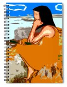 Musician With Tin Whistle Spiral Notebook