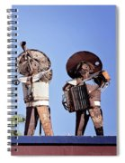 Musicians At The Hotel California Todos Santos Mx Spiral Notebook