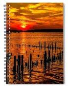 Muskegon Sunset Spiral Notebook