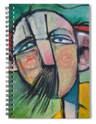 Mustached Man In Wind Spiral Notebook