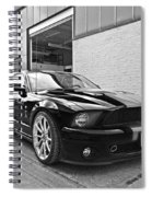 Mustang Alley In Black And White Spiral Notebook