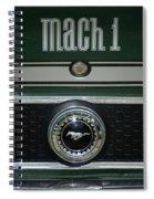 Mustang Mach 1 Emblem Spiral Notebook