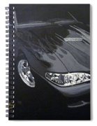Mustang With Flames Spiral Notebook
