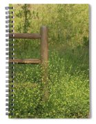 Mustard Grass And Fence At Entrance To Peters Canyon Spiral Notebook