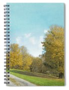 Mustard Yellow Trees And Landscape Spiral Notebook