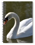 Mute Swan On Rolleston Pond Spiral Notebook
