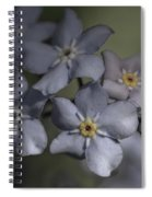 Muted Forget Me Not  Spiral Notebook