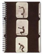 Muybridge Locomotion Back Hand Spring Spiral Notebook