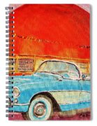 My Blue Corvette At The Orange Julep Spiral Notebook