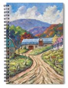 My Country My Village Spiral Notebook