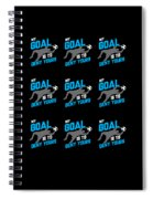 My Goal Is To Deny Yours Goalie Pattern Spiral Notebook