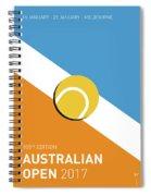 My Grand Slam 01 Australian Open 2017 Minimal Poster Spiral Notebook