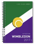 My Grand Slam 03 Wimbeldon Open 2017 Minimal Poster Spiral Notebook