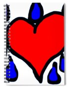 My Heart Is Crying Spiral Notebook