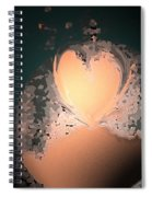 My Heart Is On The Moon Spiral Notebook