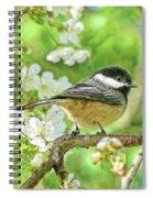 My Little Chickadee In The Cherry Tree Spiral Notebook