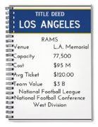 My Nfl Los Angeles Rams Monopoly Card Spiral Notebook
