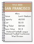 My Nfl San Francisco 49ers Monopoly Card Spiral Notebook