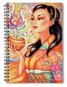 Kimono Flower Spiral Notebook
