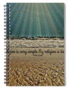 My Religion Spiral Notebook