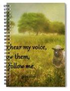 My Sheep Hear My Voice Spiral Notebook