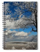 My Sunday Happy Holidays Card Spiral Notebook