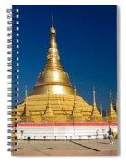 Myanmar Temple Spiral Notebook