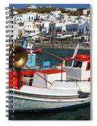Mykonos Greece Fishing Boats Spiral Notebook